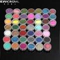 45 Colores de Uñas de Arte Del Polvo Del Polvo Maquillaje Shimmer Glitter Shinny Consejos de Decoración de Uñas Set Kit Envío Gratis