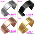 New arrival 22mm Butterfly Stainless Steel Watch Band Strap Bracelet for Samsung Gear S2 Classic R7320 Pebble Time Round