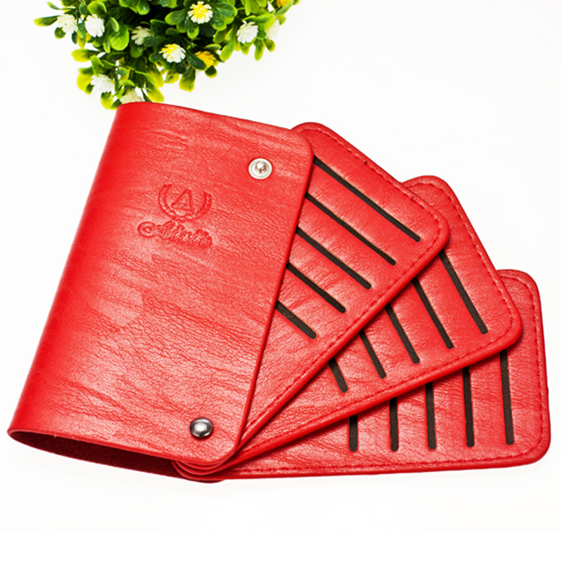 Luxury PU Leather Minimalist Design Fashion Solid Cardholder Men ...