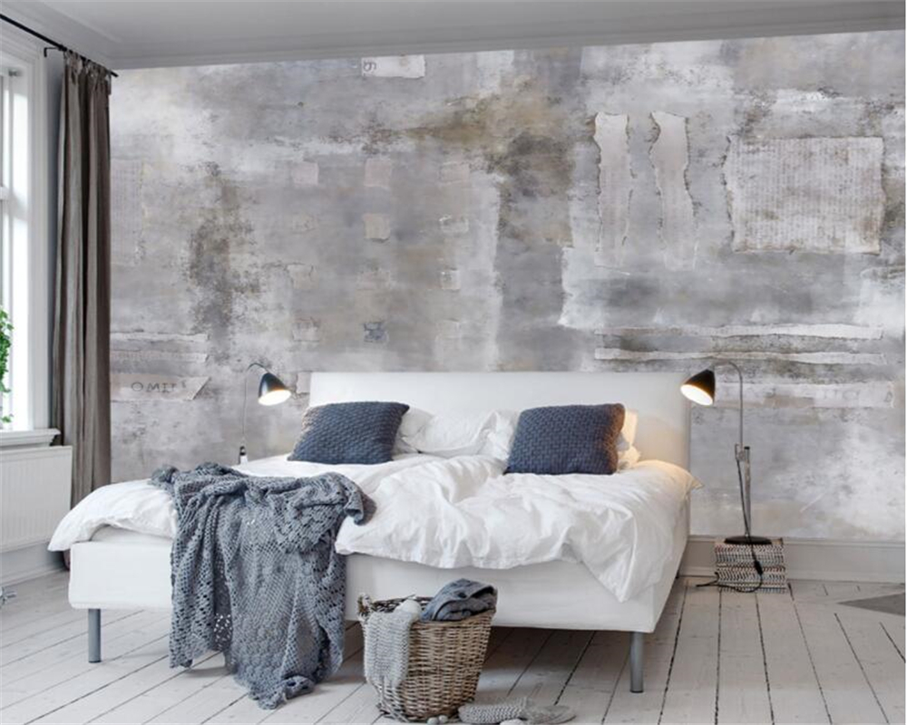 Beibehang Wallpaper For Walls 3 D European Retro Nostalgic Old Wall Mural Background Wall Concrete Wall Wall Paper Papier Peint