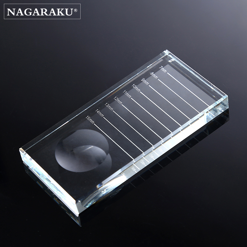 NAGARAKU Eyelashes Glue Holder Makeup Adhesive Glue Pallet Lash Extension Glue Holder Transparent Arrival Rectangular Crystal