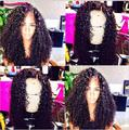 8A Mogolian Kinky Curly Full Lace Human Hair Wigs For Black Women Virgin Glueless Full Lace Wigs Afro Kinky Curly Lace Front Wig
