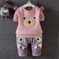High quality baby unisex fashion cartoon animal shaped clothing sets for autumn new style infant warm comfortable clothing