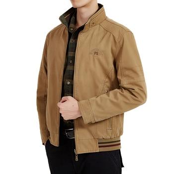 Brand AFS JEEP Jacket Men Double-side Reversible Military Jackets Coats Pure Cotton 2018 Men's Autumn Jaqueta Masculina