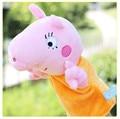 Oyuncak Cerdo Rosado de Peluche Marioneta de Mano Para Niños Gallinas De Bonecas Juguete Juguetes Del Bebé de 1 Años de Marionetas de Peluche de Juguete Ventriloque