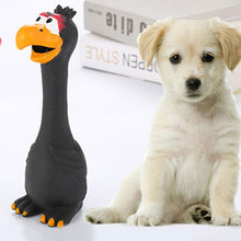 1PC Toy For Dogs Cartoon Cute Pet Dog Screaming Chicken Rubber Latex Sounding Bite Molar Training Supplies