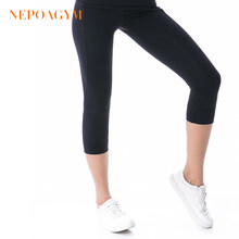 Nepoagym Vrouwen Squat Proof Yoga Broek Crop Yoga Leggings Sport Capri Tights Fitness Cropped Broek(China)