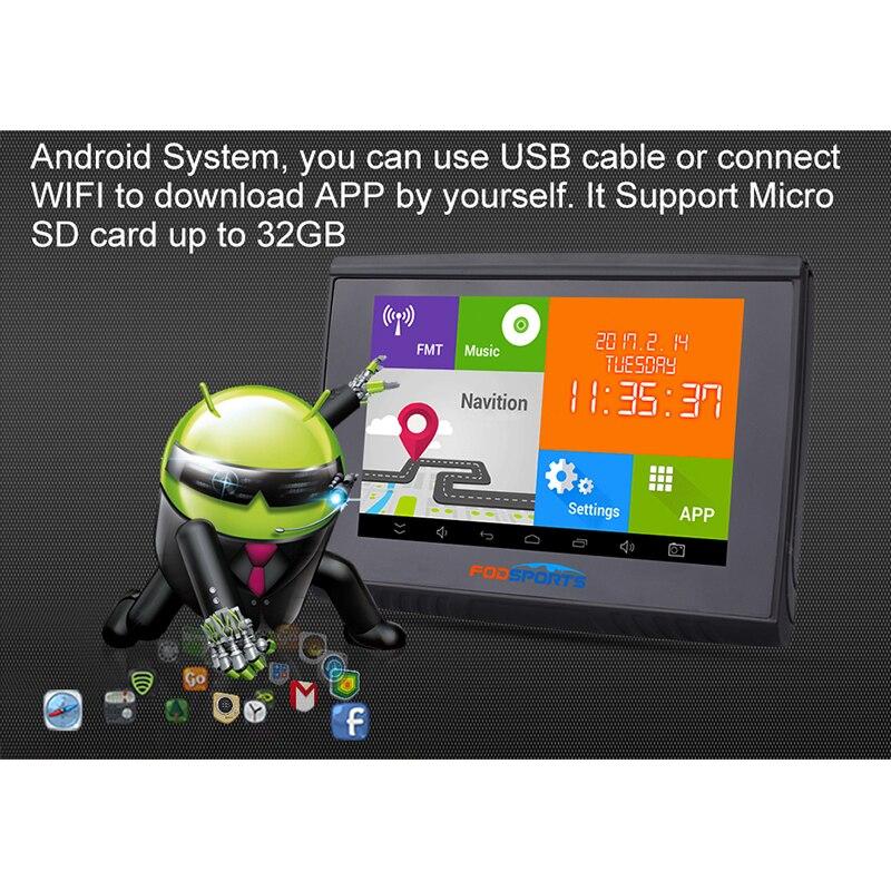 """""""Fodsports"""" 5.0 colių """"Android"""" 4.4.2 """"Motocycle"""" GPS - Automobilių Elektronika - Nuotrauka 3"""