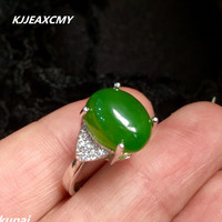 KJJEAXCMY Fine Jewelry Colorful Jewelry 925 Silver Inlaid Natural Jasper Ring Simple And Generous Wholesale Female