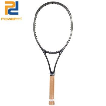 Powerti PS98 Woven Tennis Racket Men Foamed Handle Carbon Fiber Handle 4 1/4,4 3/8,4 1/2 with Bag 50-60Pounds