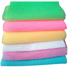 Hot Sale 3Pcs Nylon Mesh Bath Shower Body Washing Clean Exfoliate Puff Scrubbing Towel Wash Cleaning Tool