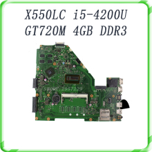 laptopmotherboard For ASUS X550LC I5-4200CPU Non-integrated REV2.0 60NB02H0-MBI100 GT720M 4GB DDR3 Mainboard full tested OK