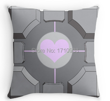 Free  shipping Companion cube Custom  PillowCase (two sides) for 12''x12'' 14''x14'' 16''x16'' 18''x18'' 20''x20'' 24''x24''