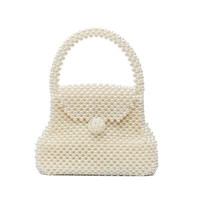 new Pearls Bag Beading Bags for Women Luxury Pearl Top handle Women Handbags Acrylic Box Totes