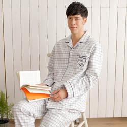 Ww121401080 Мужская простая клетчатая Пижама, пижама с длинными рукавами