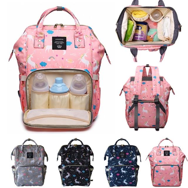 Sac à couches pour maman   Sac de maternité mode grande capacité, sac poussette de bébé licorne lequeen, sac à dos à langer pour maman