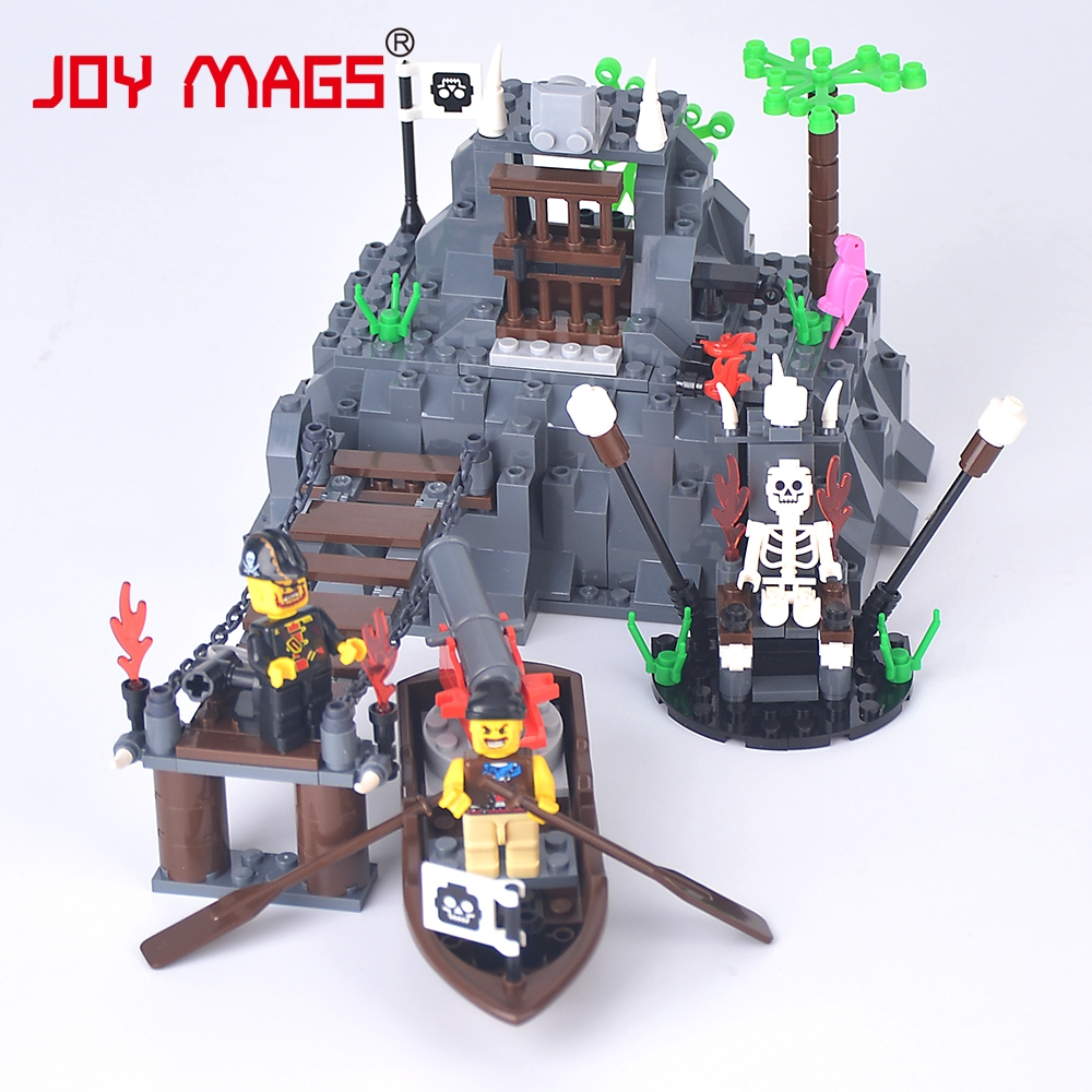 JOY MAGS Toy Pirates series Forbidden Cove Building Blocks Seaman Ghost with Weapon Kids Toys 30041 DIY Model 150pcs joy mags brand magnetic tiles models blocks diy building toys inspire adult