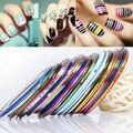 30 unids/set Moda DIY Uñas Decoración Del Arte Del Clavo de la Pintura del Gel Engomado de Rolls Striping Tape Nail Stickers Herramienta Nails unhas
