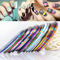30pcs/set Fashion DIY Fingernail Decoration Nail Art Gel Painting Rolls Striping Tape Gummed Nail Stickers unhas Nails Tool