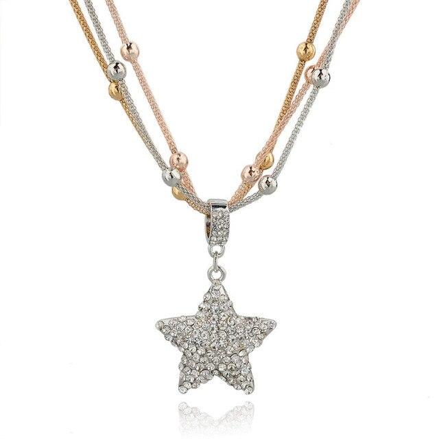 Женское длинное ожерелье цепочка chicvie золотистого цвета с