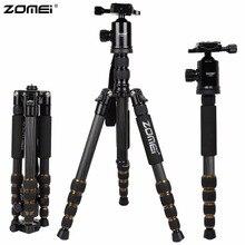 ZOMEI Z699C Carbon Fiber Portable Professional Tripod & Ball Head Compact Travel for Canon Sony Nikon Olympus DSLR Video Camera