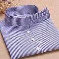 Nuevo Estilo de Moda de La Raya Azul Camisa Desmontable Collar Falso Collares Girls Cotton Brife Mujeres Al Por Mayor