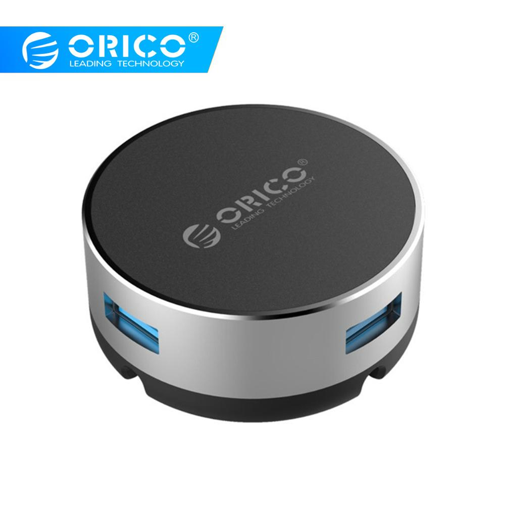 ORICO USB HUB Aluminum 3 Port USB3.0 Circular HUB With Mouse Cable Management USB Splitter For IMac Computer Laptop Accessories