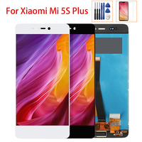 Original 5.7 inch LCD display For Xiaomi MI5S Plus Mi 5S + Touch Screen Display Digitizer Touch Panel Assembly Free Tools Glass