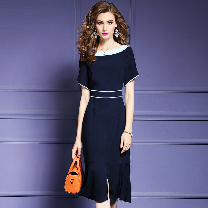 2018 Office Lady dress runway sexy women Business dressnew Spring Summer Clothes elegant short sleeve Party