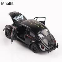 Mnotht 1:36 Diecast Model Auto Zwart Batman Kever Torino Vintage klassieke Diecast Auto Speelgoed Legering Hobby Open Deur Auto Speelgoed L65