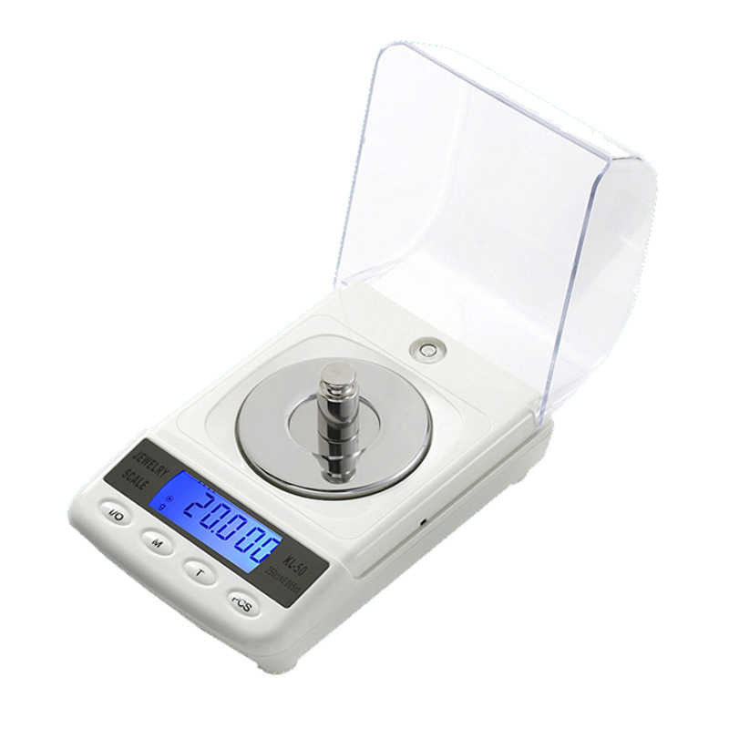 100g/50g 0.001g LCD ميزان مجوهرات رقمي دقيق الماس مختبر ميزان الوزن ميزان إلكتروني طبي مع كابل يو اس بي