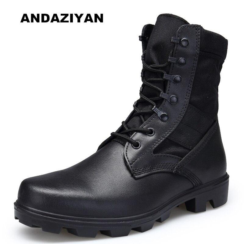 Nouveau bottes Martin résistantes à l'usure bottes pour hommes sept boucles en plein air désert champ formation bottes hautes