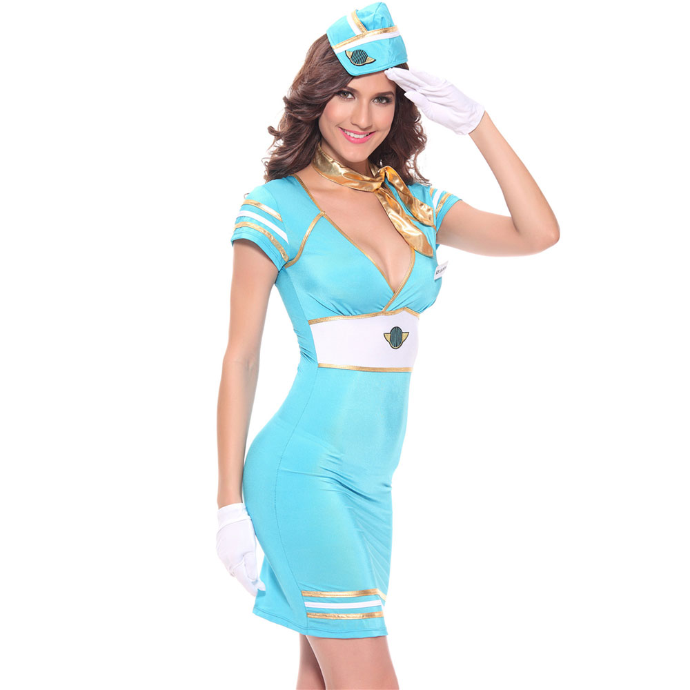 Sexy air hostess fancy dress