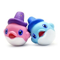 Funny Squishy Toy Kawaii Dolphin Toys Doll Squishy Slow Rising Decoration Phone Strap Pendant Keychain Squishes Gift Toys Doll