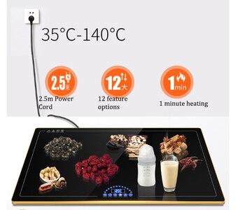Secador eléctrico de alimentos, deshidratadores de alimentos, secador de alimentos, calentador de platos, esterilla para descongelar la humedad, electrodoméstico