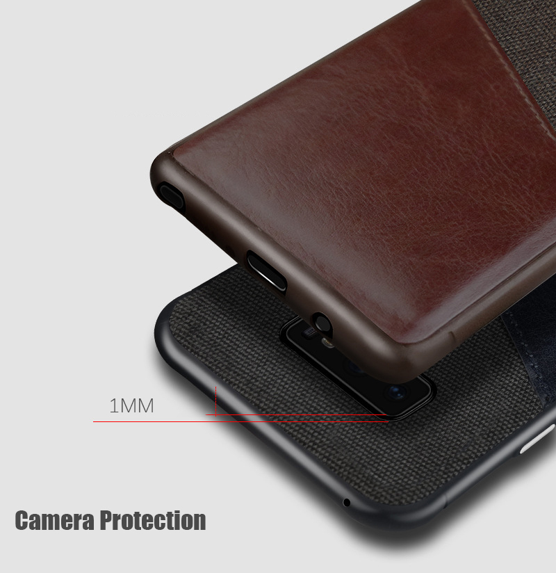Luxury Business Cloth+leather Wallet Case for samsung note 9 8 with Card Pocket Cover for samsung galaxy S8 S9 Plus case Coque   (5)