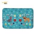 HUGSIDEA милые ветеринарные коврики с узором для гостиной  мопса  Нескользящие коврики  коврики для спальни  Декор  фланель  Alfombras  Tapis