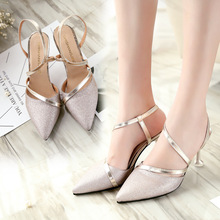 Thin Heels Shoes Woman Pumps Ankle Cross Strap Sandals Shoes Woman Ladies Pointed Toe High Heels Dress Party Shoes sestito woman embroidery rhinestone decorated ankle boots ladies pointed toe sweety bowtie high heels shoes woman zipper shoes