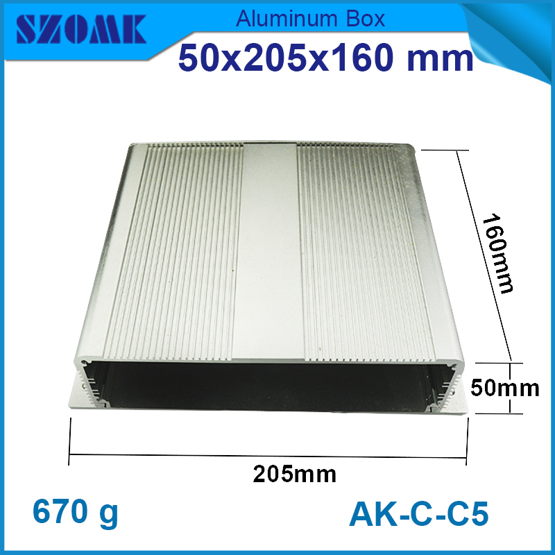 one piece extruded aluminum enclosure OEM and custom electronics housing Diy electronic aluminum box enclosure project box case aluminium housing metal electronics box diy aluminum enclosure ygs 036 96 45 5 140mm wxh d