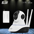 BW CCTV HD IP Camera Wireless 720P + Infrared Motion Sensor Alarm 3.6mm Endoscope Wifi Security Camera Mobile Remote Control
