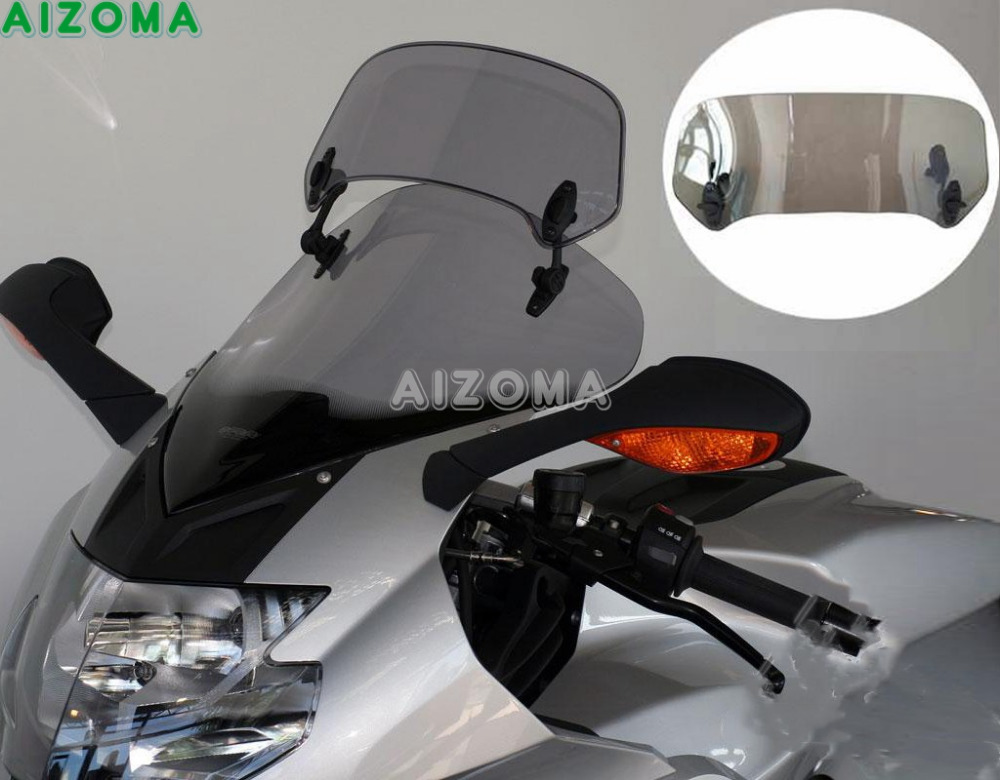 Smoke Motorcycle Adjustable Windscreen Spoiler Extension For Ducati Yamaha YZ8 XL1000 R1600 VFR1200X Triumph Tiger 800 XC XR XCR Мотоцикл