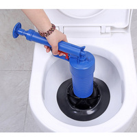 Manual Plunger Kit Pressure Pump Cleaner Toilet Dredger Vacuum Cleaner Kitchen Bathtub Straw Sewer Dredging Bath Head Elbow