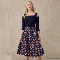 SheIn Elegant Dresses For Women Spring And Summer Ladies Multicolor Print Floral The Harness Fashion Dresses
