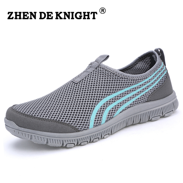 58d88025 2016 Net work mesh calzado hombre Comfort Footwear lady flat trainers,male  driving shoes soft