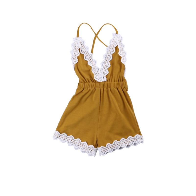 2018 Baby Girl Fashion Infant Girl Sleeveless Lace Romper Summer Toddle Girls Jumpsuit Clothes Sunsuit One Piece Outfits