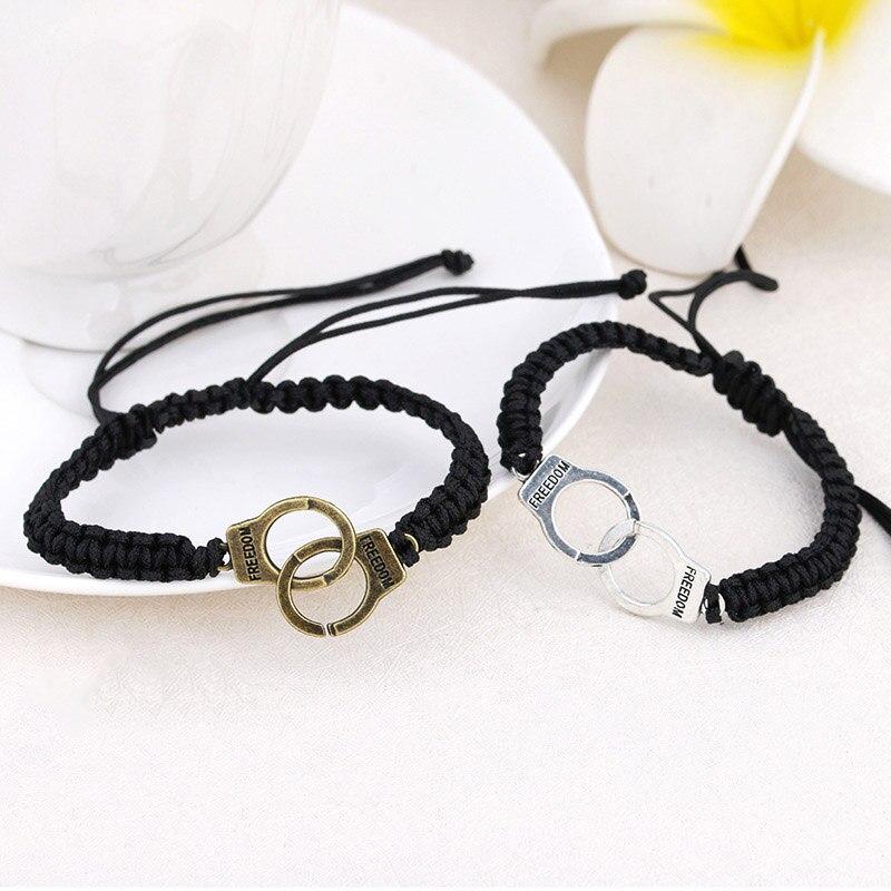 Adjustable Vintage Handmade Bracelet Men Jewelry Handcuffs Charm Bracelet for Women Accessories Friendship Girl Couple Bracelets 12