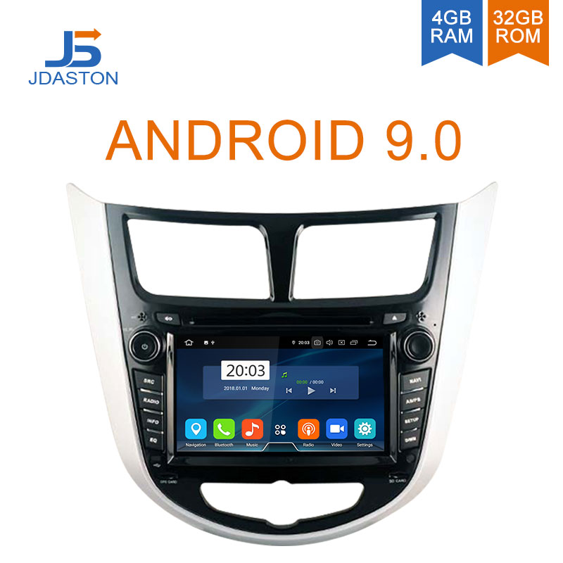 JDASTON Android 9.0 Car DVD Player For  Hyundai Solaris accent Verna i25 WIFI Multimedia GPS Stereo 2 Din Car Radio Audio 4G+32GJDASTON Android 9.0 Car DVD Player For  Hyundai Solaris accent Verna i25 WIFI Multimedia GPS Stereo 2 Din Car Radio Audio 4G+32G
