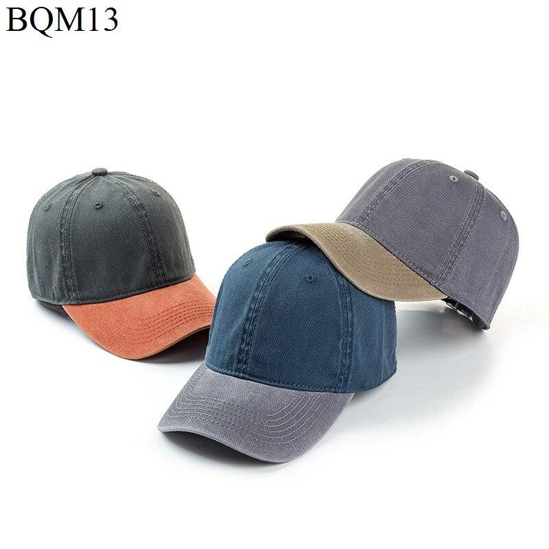F&U Unisex Cowboy   Baseball     Cap   Fall Casual Snapback Hats For Men And Women Outdoor Sport Denim Two Mixed Colors Jeans Hip Hop