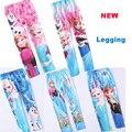 Novos Leggings para meninas 2015 primavera outono crianças impressão dos desenhos animados macio Legging bebê clássico cintura elástica meninas calças