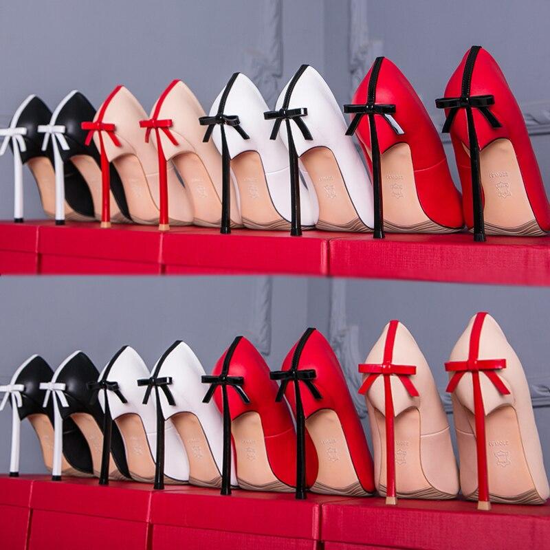 Sexy Pompes Cm color Pointu Haute 7 3 5 10 Mince 1 12 Qualité 6 Color Bout 9 2 Femmes Talons 4 10cm De 10cm Bowtie Chaussures Partie 8 Mariage q1wqXtxE